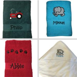 Håndklæder med navn