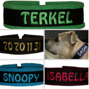 Hunde halsbånd med navn