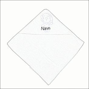 Babyhåndklæde med navn