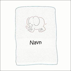 Håndklæde med motiv og navn