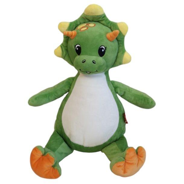 Grøn dinosaur-bamse